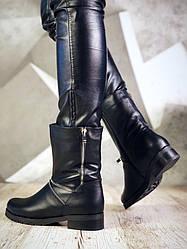 37, 40 розмір! Зимові черевики жіночі Delisia чорні натуральна шкіра