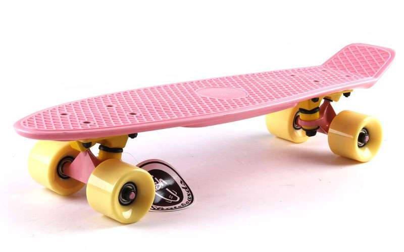 Скейт Пенни борд Penny Board Пенні Fish Skateboards 22.5 Pastel Rose - Розовый 57 см