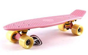 Скейт Пенни борд Penny Board Пенні Fish Skateboards 22.5 Pastel Rose - Розовый 57 см , фото 2