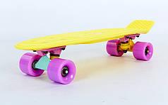 Скейт Пенни борд Penny Board Пенні Борд Fish Skateboards 22.5 Pastel Lemon - Желтый 57 см пенни борд скейт