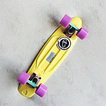Скейт Пенни борд Penny Board Пенні Борд Fish Skateboards 22.5 Pastel Lemon - Желтый 57 см пенни борд скейт, фото 3