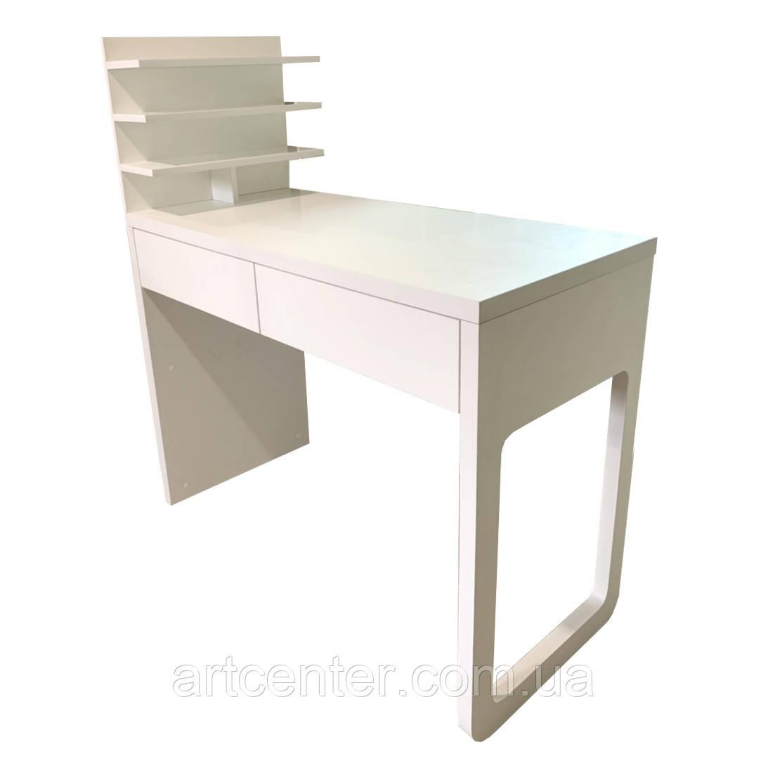 Стол для маникюра с выдвижными ящиками и витриной для лаков, В НАЛИЧИИ