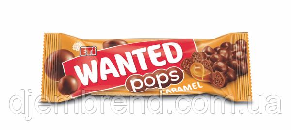 Шоколадка Wanted pops Карамель, 28 г (24 шт у коробке)