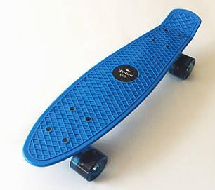 Скейт Пенни борд Penny Board 22 Blue - Синий  54 см Светятся колеса, фото 2