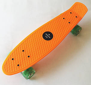 Скейт Пенни борд Penny Board LED 22 Orange - Оражневый 54см Светятся колеса, фото 2
