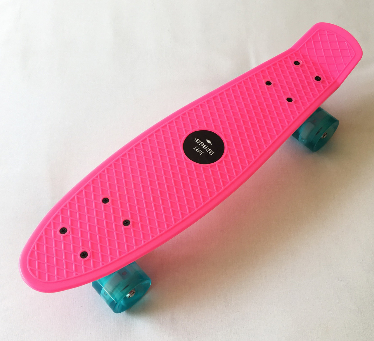 Скейт Пенни борд Penny Board LED 22 Pink - Розовый 54 см Светятся колеса