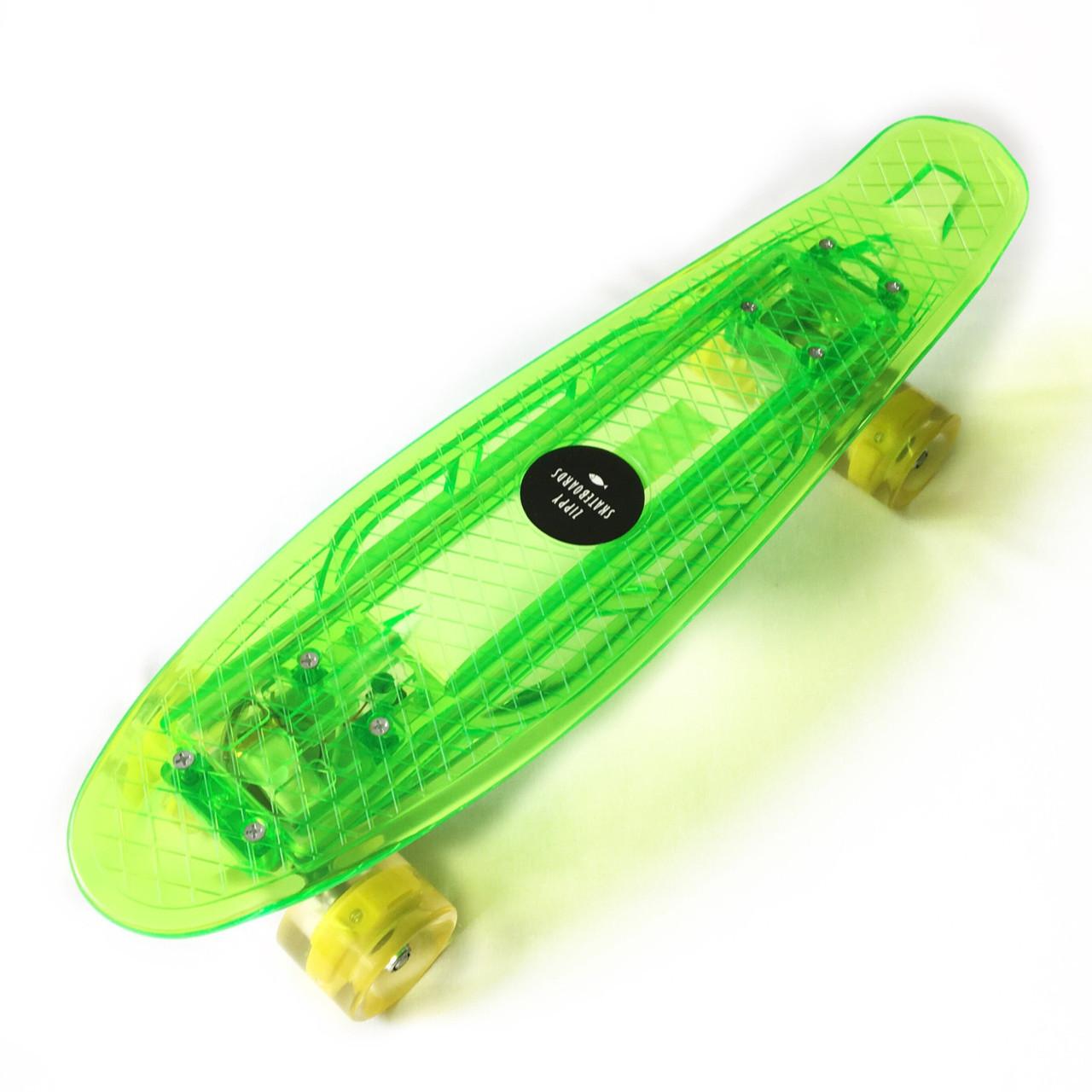 """Светиться весь Zippy Board LED 22"""" Green - Салатовый 54 см"""