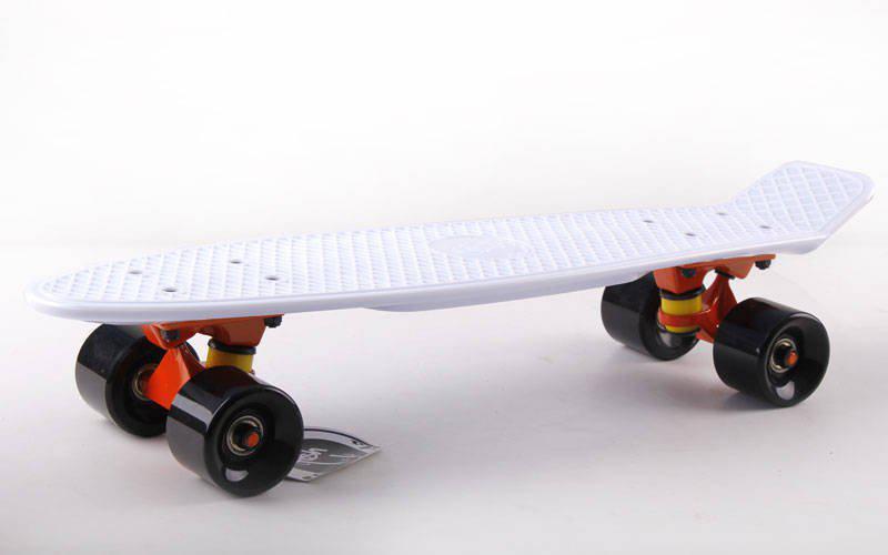Скейт Пенни борд Penny Board Пенні Борд Fish Skateboard 22.5 White - Белый 57см пенни борд скейт