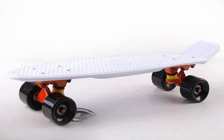 Скейт Пенни борд Penny Board Пенні Борд Fish Skateboard 22.5 White - Белый 57см пенни борд скейт, фото 2