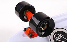 Скейт Пенни борд Penny Board Пенні Борд Fish Skateboard 22.5 White - Белый 57см пенни борд скейт, фото 3