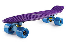 Скейт Пенни борд Penny Board Пенні Fish Skateboards  22 Dark-Purple - Темно-Фиолетовый 57см пенни борд скейт
