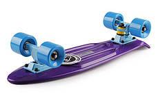 Скейт Пенни борд Penny Board Пенні Fish Skateboards  22 Dark-Purple - Темно-Фиолетовый 57см пенни борд скейт, фото 2