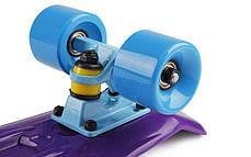 Скейт Пенни борд Penny Board Пенні Fish Skateboards  22 Dark-Purple - Темно-Фиолетовый 57см пенни борд скейт, фото 3