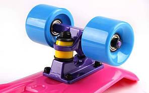 "Fish Skateboard 22.5"" Pink - Розовый 57см  пенни борд скейт, фото 2"