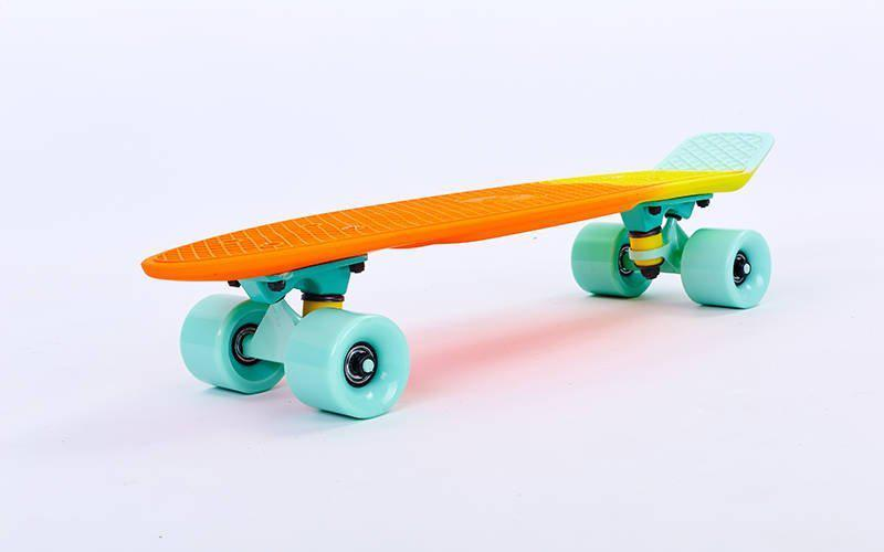 Скейт Пенни борд Penny Board Пенні Fish Skateboards Neptune  22 - Нептун 57 см Soft-Touch