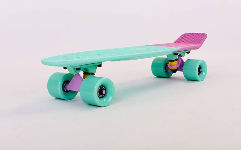 Скейт Пенни борд Penny Board Пенні Fish Skateboards  Peppermint  22 - Пепперминт 57 см Soft-Touch