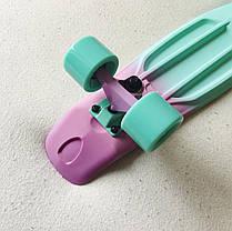 Скейт Пенни борд Penny Board Пенні Fish Skateboards  Peppermint  22 - Пепперминт 57 см Soft-Touch, фото 3