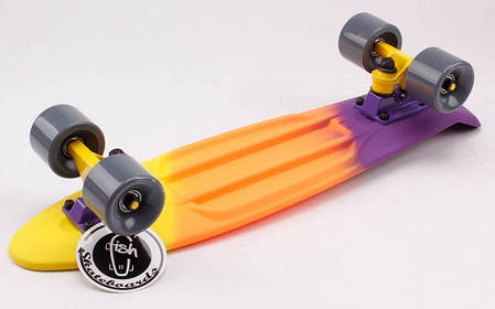 "Fish Skateboards Sunset  22"" - Сансет 57 см Soft-Touch пенни борд, фото 2"