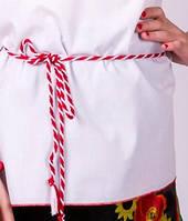 """Пояс-шнурок """"Украинка"""" Красный+Белый"""