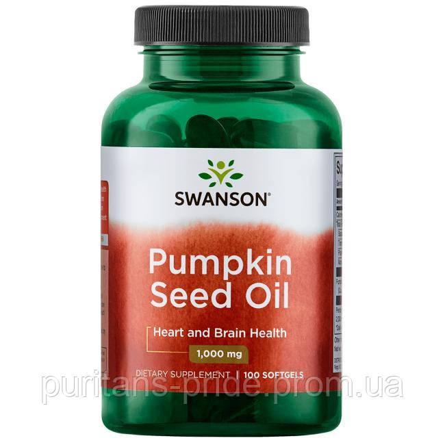 Масло семян тыквы, Swanson Pumpkin Seed Oil 1000 mg 100 Softgels
