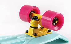 Скейт Пенни борд Penny Board Пенні Fish Skateboards 22.5 Mint/Pink - Мятный/Розовый , фото 3
