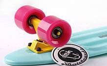 Скейт Пенни борд Penny Board Пенні Fish Skateboards 22.5 Mint/Pink - Мятный/Розовый , фото 2