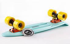 Скейт Пенни борд Penny Board Пенні Fish Skateboard 22.5 Mint/Yellow- Минт/Желтый 57см , фото 2
