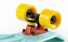 Скейт Пенни борд Penny Board Пенні Fish Skateboard 22.5 Mint/Yellow- Минт/Желтый 57см , фото 3