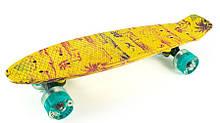 "Fish Skateboards LED Print Palms 22.5"" - Пальмы 57 см"