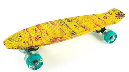 "Fish Skateboards LED Print Palms 22.5"" - Пальмы 57 см, фото 2"