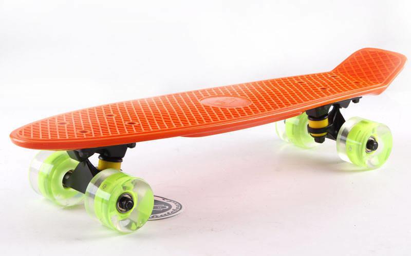 """Fish LED Orange 22"""" - Оранжевый 57 см Светятся колеса"""