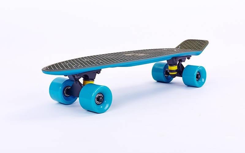 Скейт Пенни борд Penny Board Пенні Fish Skateboards Khaki/Blue 22 - Хаки/Синий Twin