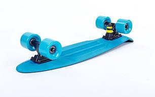 Скейт Пенни борд Penny Board Пенні Fish Skateboards Khaki/Blue 22 - Хаки/Синий Twin, фото 2