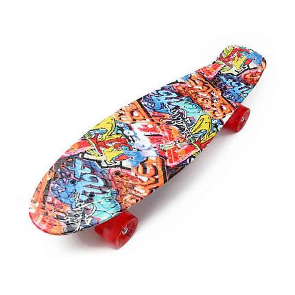 "Скейт Пенни борд Penny Board Nickel Print 27"" - Граффити 68 см пенни борд скейт никель, фото 2"
