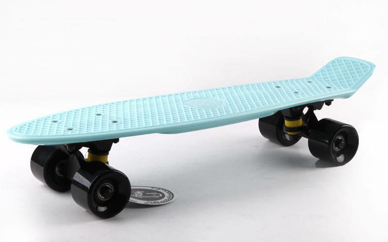 Скейт Пенни борд Penny Board Пенні Fish Skateboard 22.5 Dark - Темно-Бирюзовый 57см