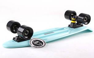 Скейт Пенни борд Penny Board Пенні Fish Skateboard 22.5 Dark - Темно-Бирюзовый 57см, фото 2