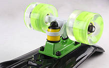 Скейт Пенни борд Penny Board Пенні Fish Skateboards LED Black 22 - Черный 57 см Светятся колеса, фото 2