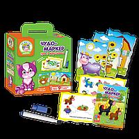 Игра с карточками «Чудо-маркер» Ферма Vladi Toys, фото 1