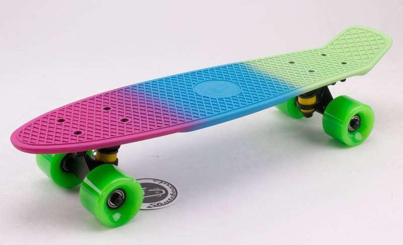 Скейт Пенни борд Penny Board Пенні Fish Skateboards Amazon 22,5 - Амазон 57 см Soft-Touch