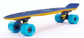 """Скейт Пенни борд Penny Board Пенні Fish Skateboards Dark-Blue 22"""" - Темно-Синий/Песочный Twin , фото 2"""