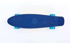 """Скейт Пенни борд Penny Board Пенні Fish Skateboards Dark-Blue 22"""" - Темно-Синий/Песочный Twin , фото 3"""