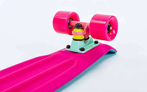 Скейт Пенни борд Penny Board Пенні Fish Skateboards Light-Blue/Pink 22 - Голубой/Розовый Twin , фото 2