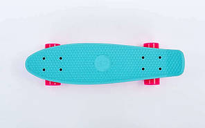 Скейт Пенни борд Penny Board Пенні Fish Skateboards Light-Blue/Pink 22 - Голубой/Розовый Twin , фото 3