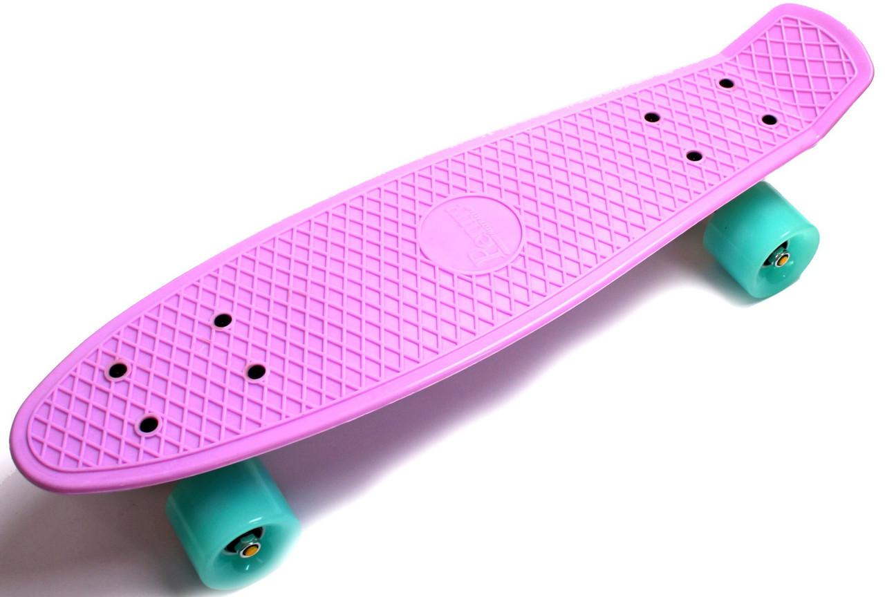 """Zippy Board LED 2.0 22"""" Lilac 54 см Светятся колеса матовые"""