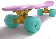 "Zippy Board LED 2.0 22"" Lilac 54 см Светятся колеса матовые, фото 2"