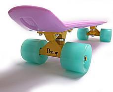 "Zippy Board LED 2.0 22"" Lilac 54 см Светятся колеса матовые, фото 3"