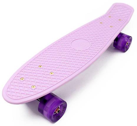 """Zippy Board PRO 22"""" - Lilac 54 см Светятся колеса, фото 2"""