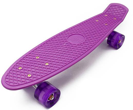 "Zippy Board PRO 22"" - Purple 54 см Светятся колеса, фото 2"