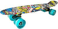 Скейт Пенни борд Penny Board Ultra Led 22 - Пенні борд Стикер 54 см