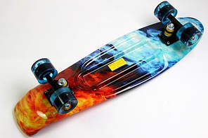 "Penny Board Nickel Print 27"" - Огонь-Лед LED 68 см пенни борд никель, фото 2"